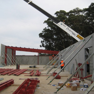 Tilt-up panel project on suspended slab